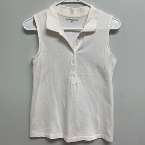 Women's Croft & Barrow White Collared Tank